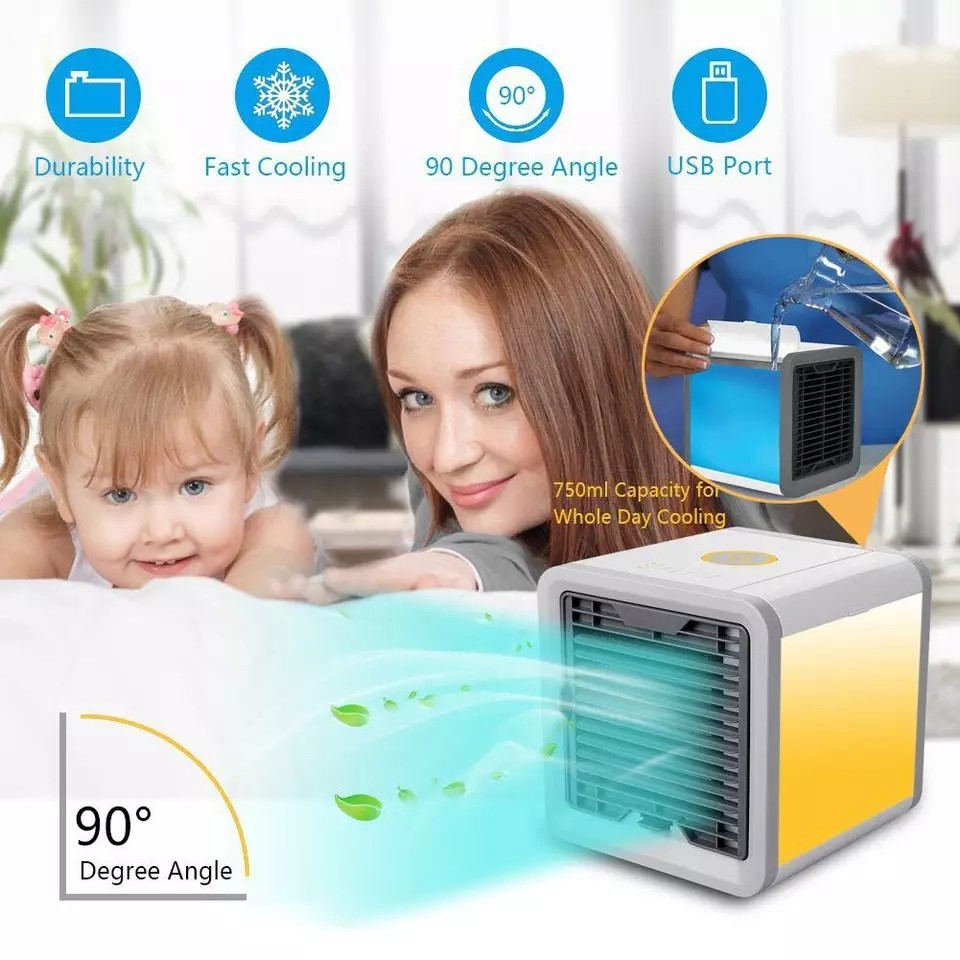 2018 Air Cooler Fan Air RX-128 Personal Space Cooler Portable Mini Air Conditioner Device cool soothing wind for Home room Office Desk